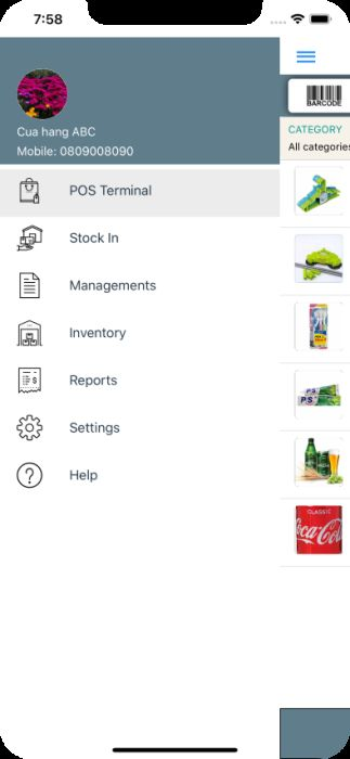 miniPOS - Mobile Point of Sale Application Xamarin Screenshot 2