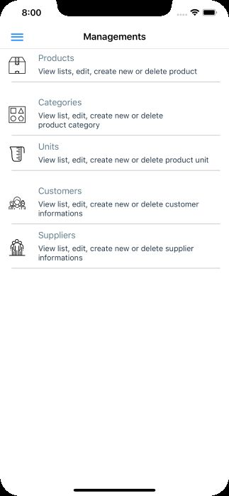 miniPOS - Mobile Point of Sale Application Xamarin Screenshot 7