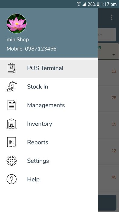 miniPOS - Mobile Point of Sale Application Xamarin Screenshot 19