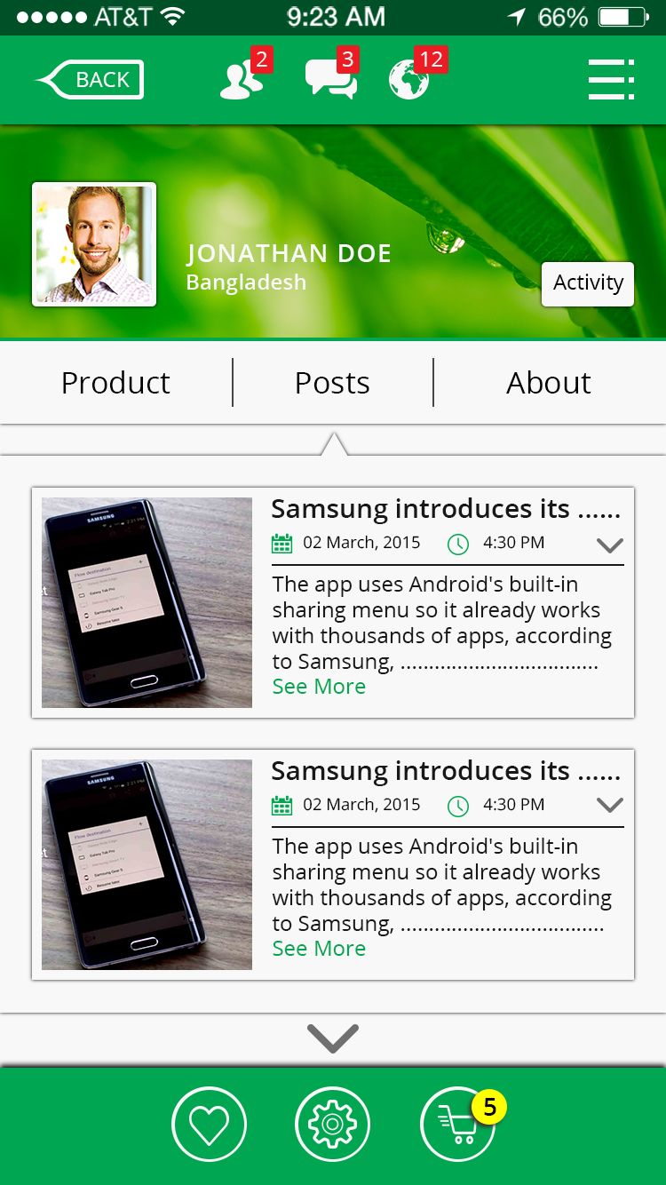 Online Shop & Social Communication iOS App UI Kit Screenshot 7