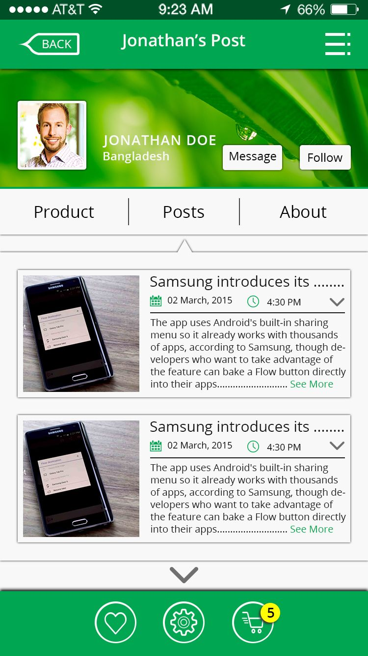Online Shop & Social Communication iOS App UI Kit Screenshot 15