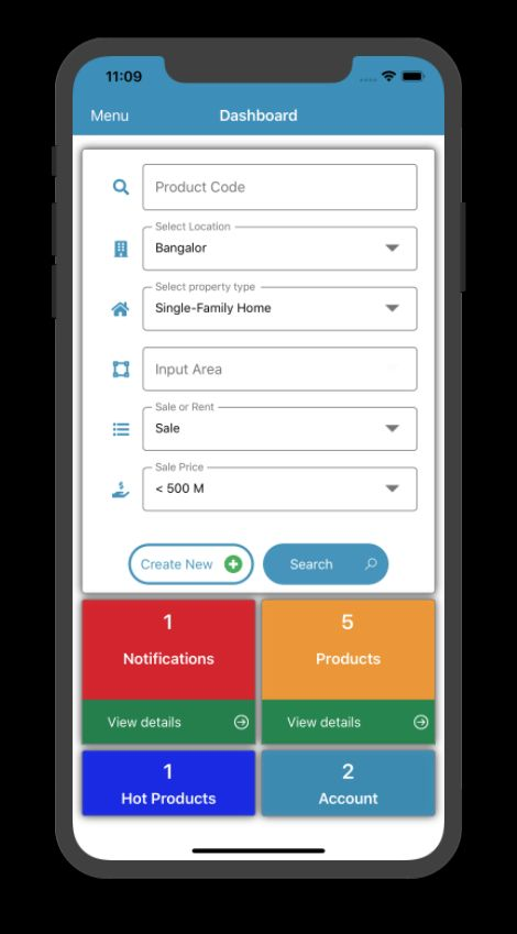 Real Estate Management Xamarin Without Backend Screenshot 4