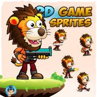 Lion Warrior 2Game Character Sprites 222
