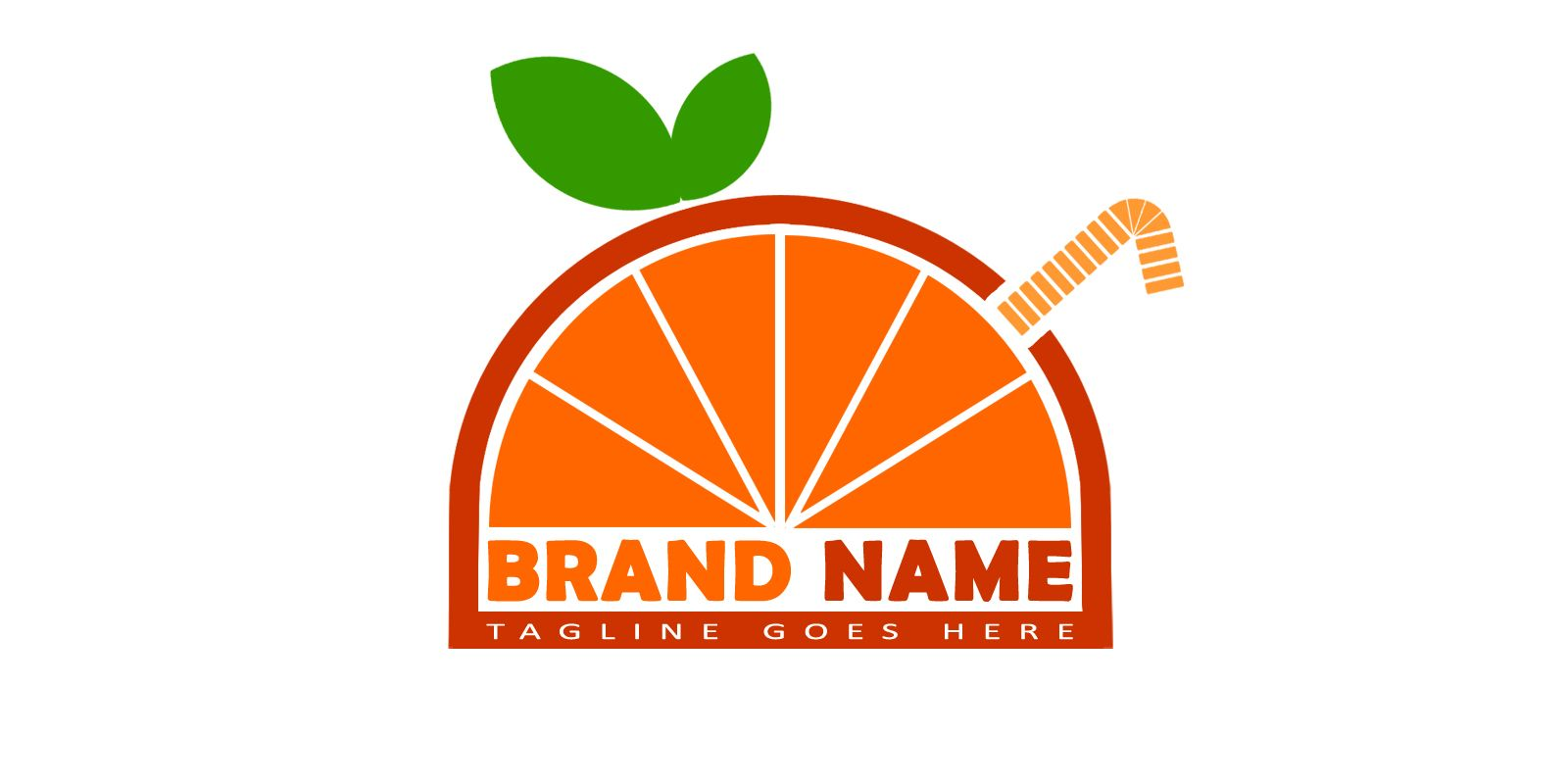 Orange Logo Template Screenshot 1