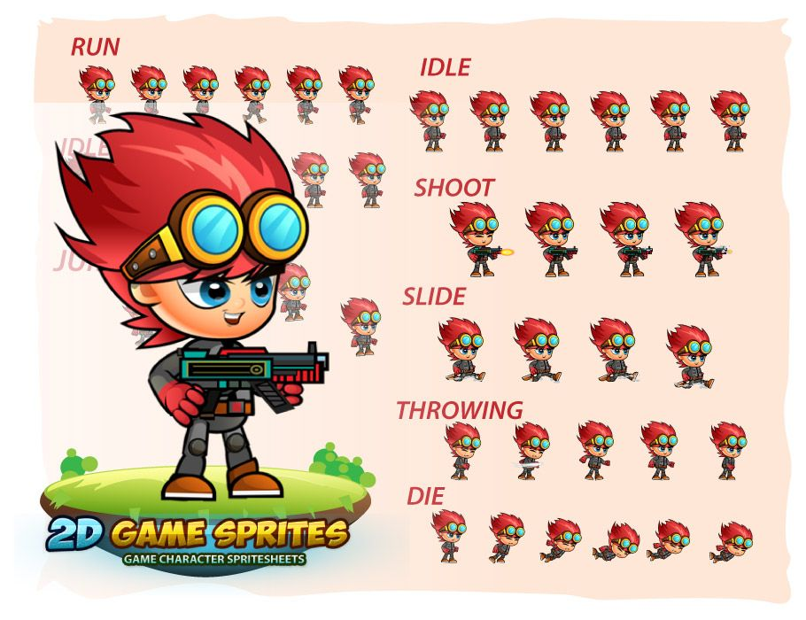 Red 2D Game Sprites Screenshot 2