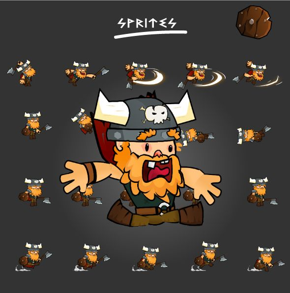 Viking 2D Character Sprites Screenshot 2