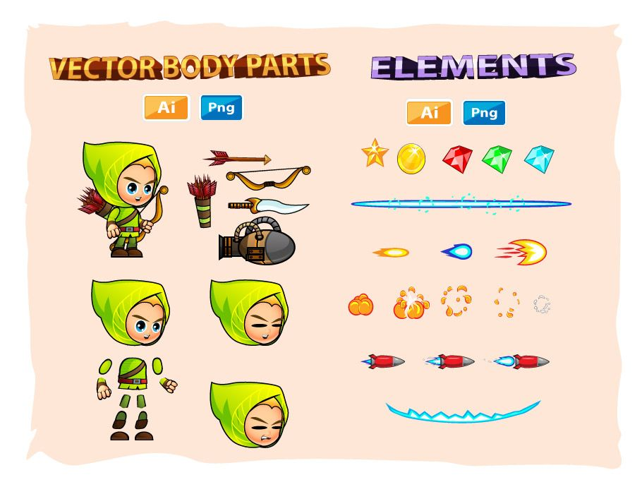 Archer 2D Game Character Sprites Screenshot 3