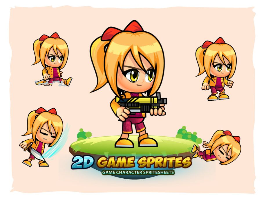 Sophie 2D Game Character Sprites Screenshot 1