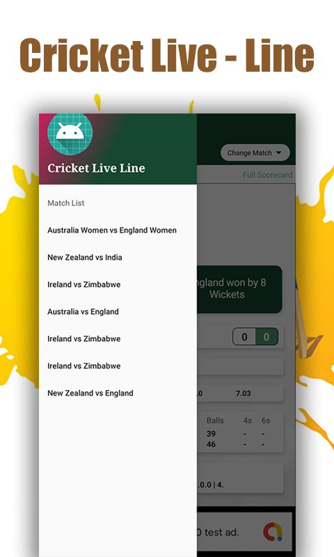 Cricket Live Line - Android Source Code Screenshot 1