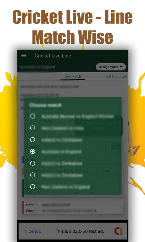 Cricket Live Line - Android Source Code Screenshot 2