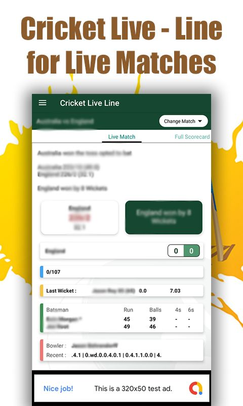Cricket Live Line - Android Source Code Screenshot 3