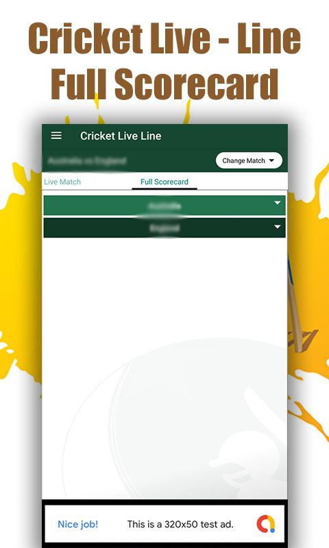 Cricket Live Line - Android Source Code Screenshot 4