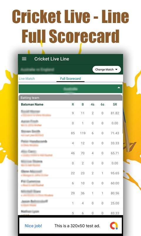 Cricket Live Line - Android Source Code Screenshot 5