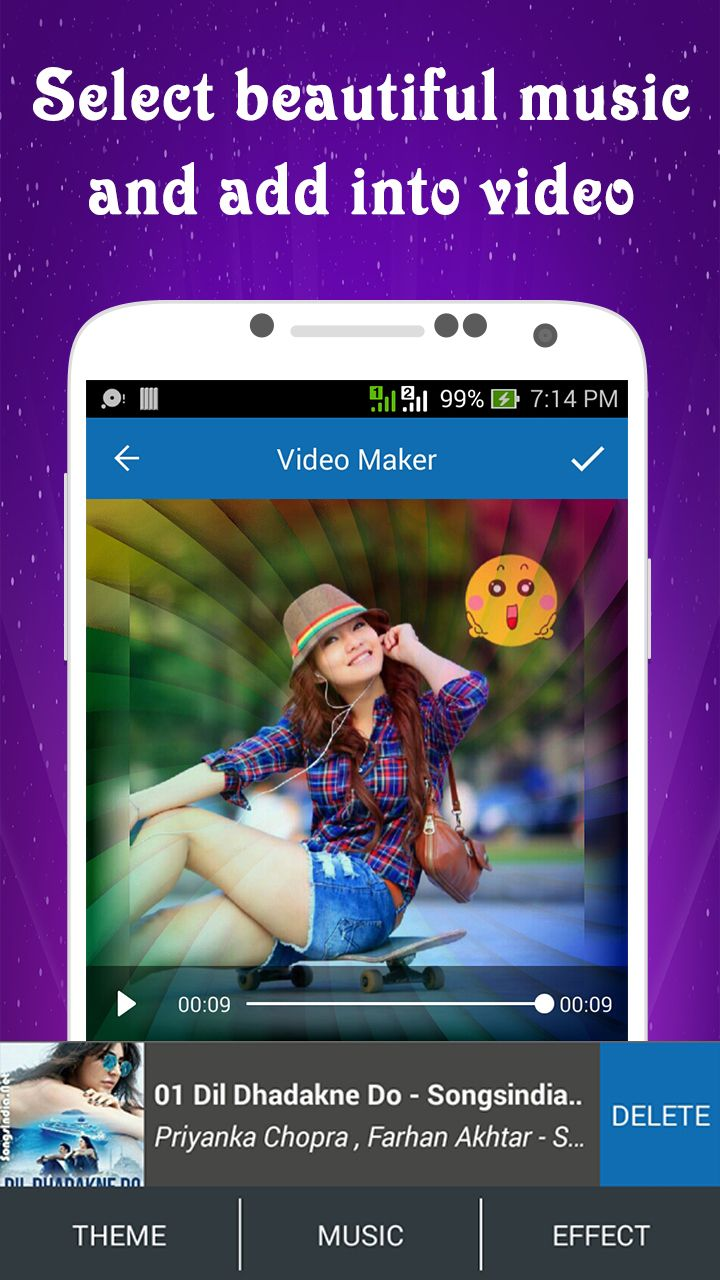 Photo Video Maker With Music - Android Source Code Screenshot 4