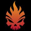 Flame Skull Logo Template