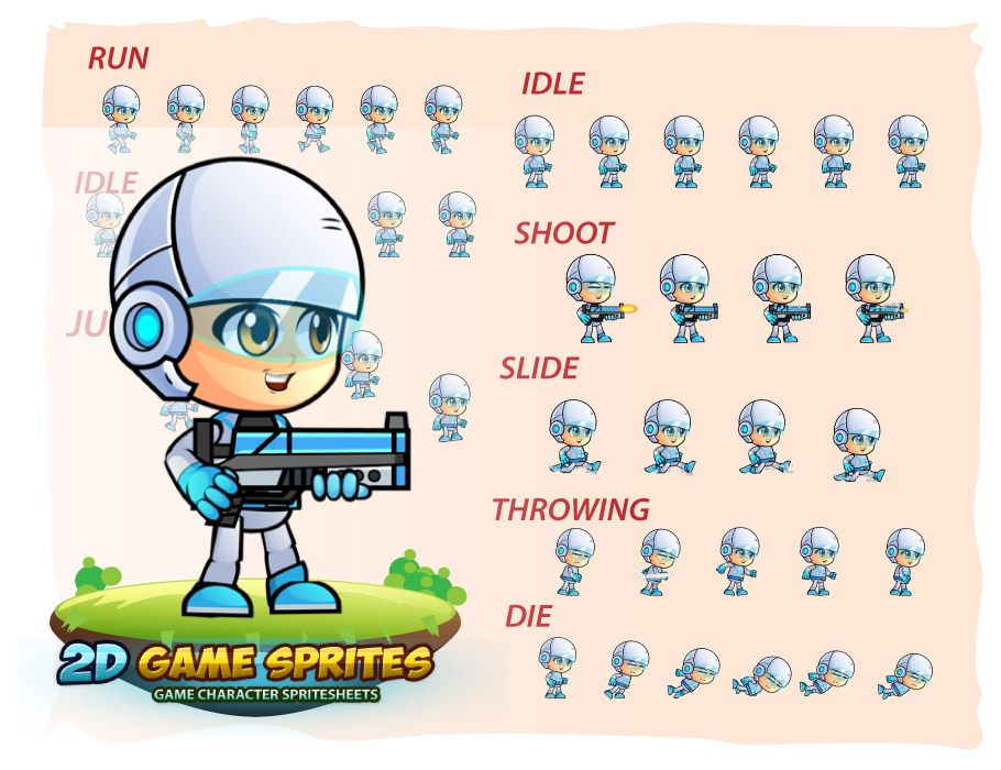 Michael Game Character Sprites Screenshot 2