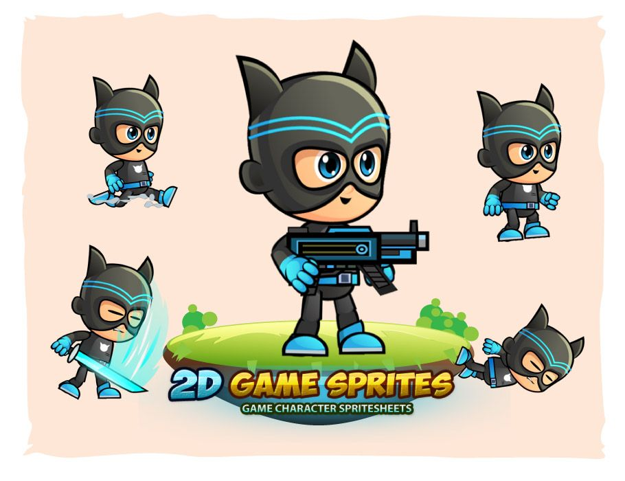 CatBoy Game Character Sprites Screenshot 1