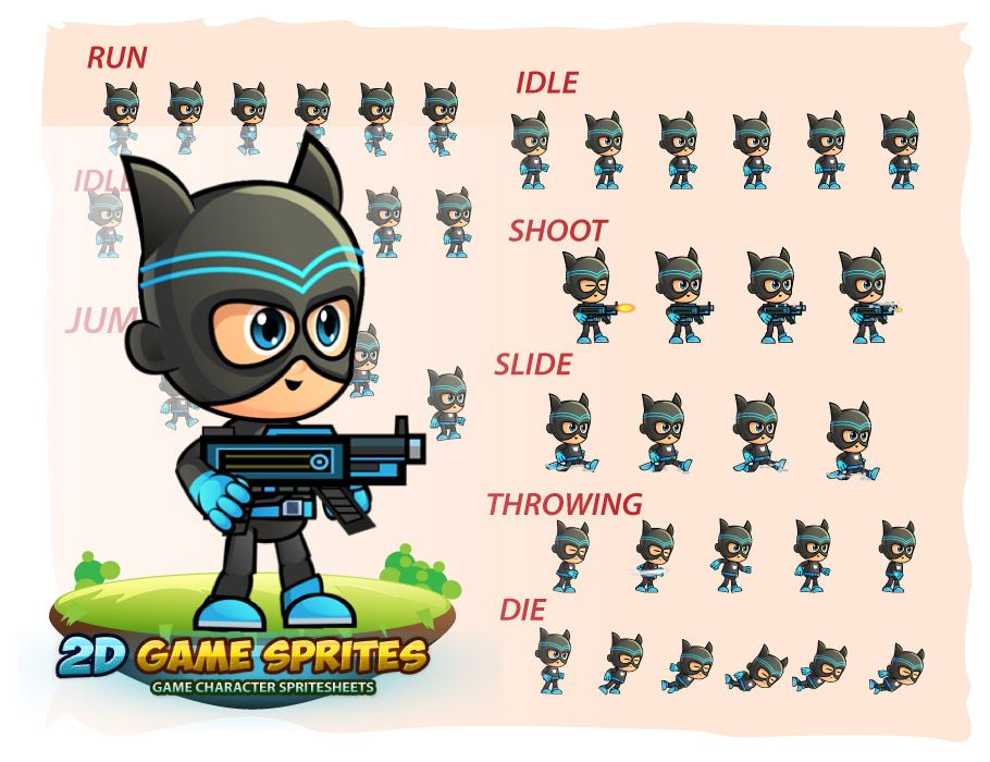 CatBoy Game Character Sprites Screenshot 2