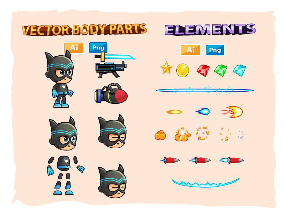 CatBoy Game Character Sprites Screenshot 3