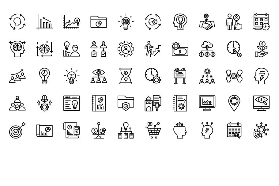 600 Cross Marketing Vector Icons Pack Screenshot 2