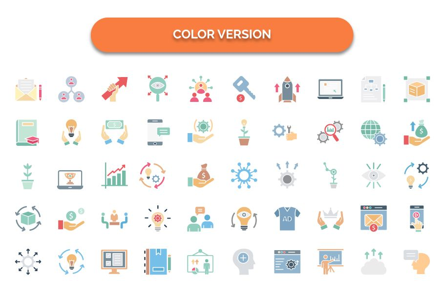600 Cross Marketing Vector Icons Pack Screenshot 3