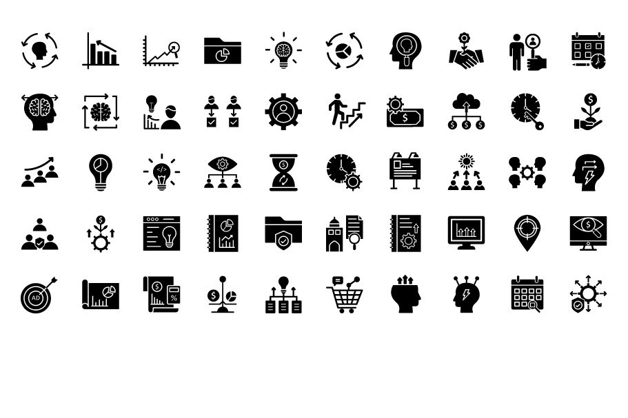 600 Cross Marketing Vector Icons Pack Screenshot 9