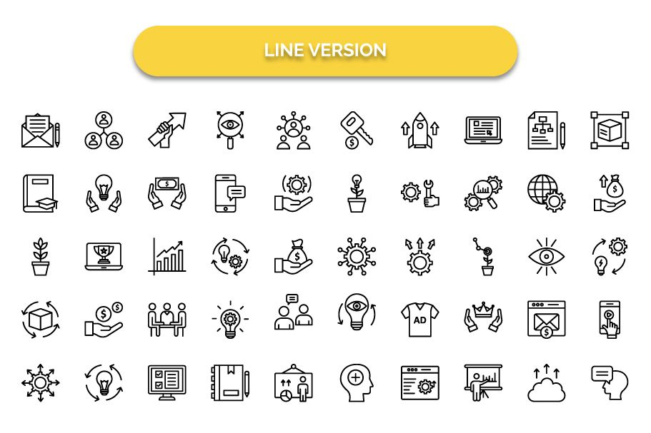 600 Cross Marketing Vector Icons Pack Screenshot 12
