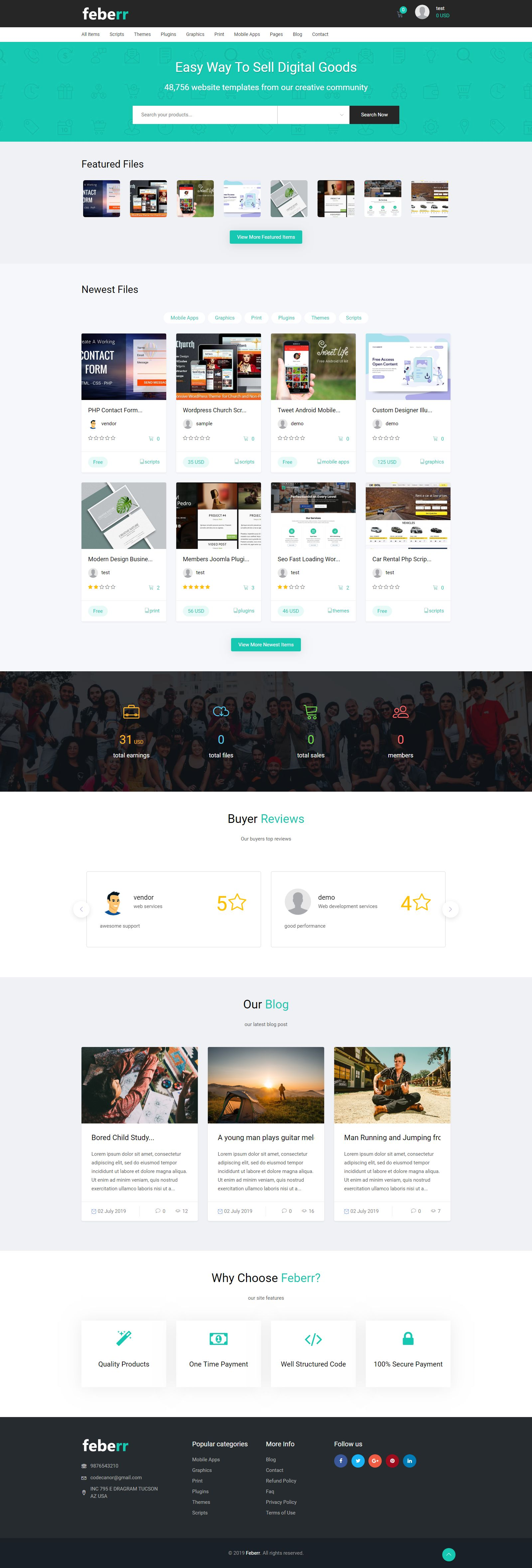 Feberr - Multivendor Digital Products Marketplace  Screenshot 1