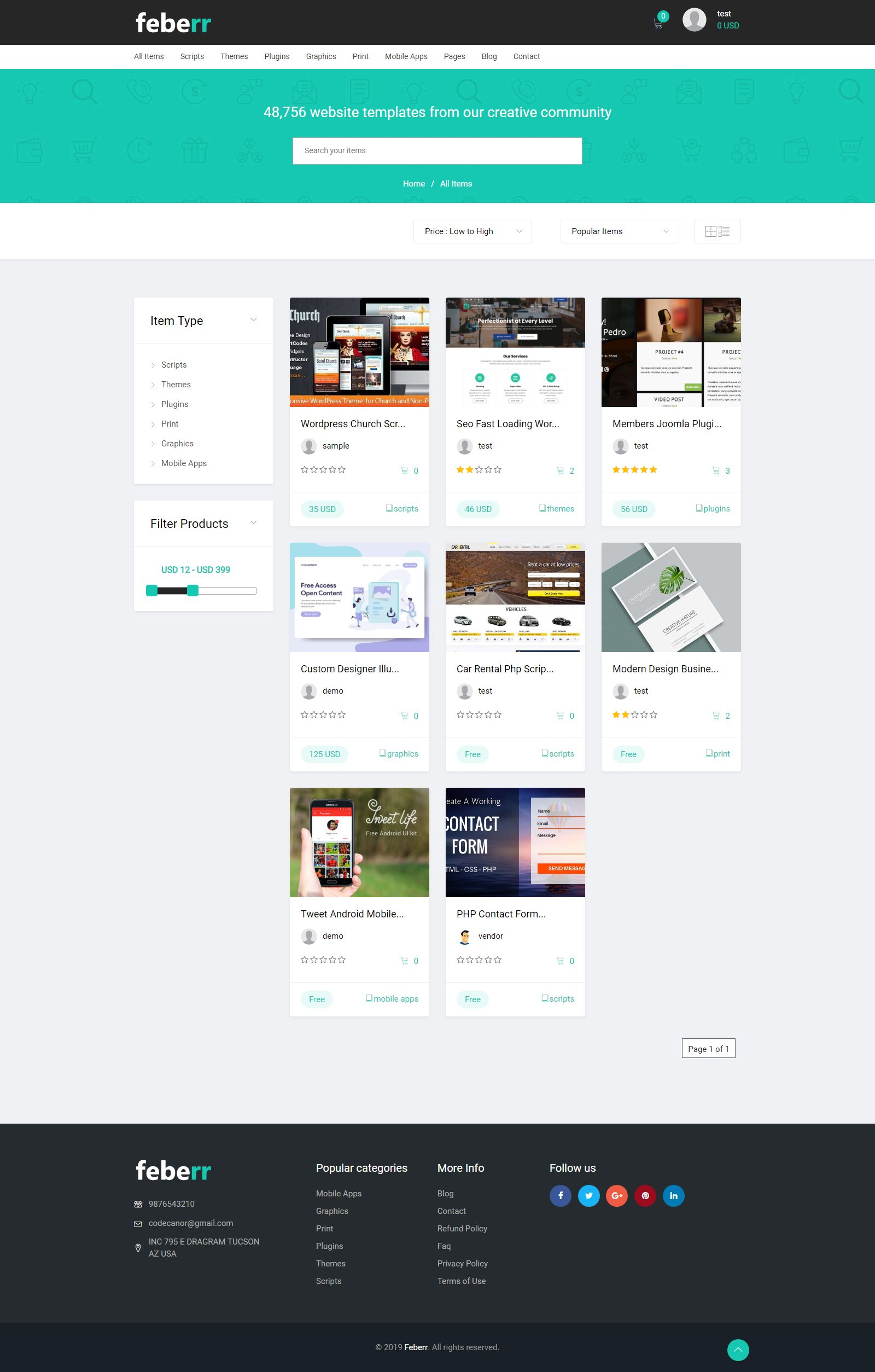 Feberr - Multivendor Digital Products Marketplace  Screenshot 3