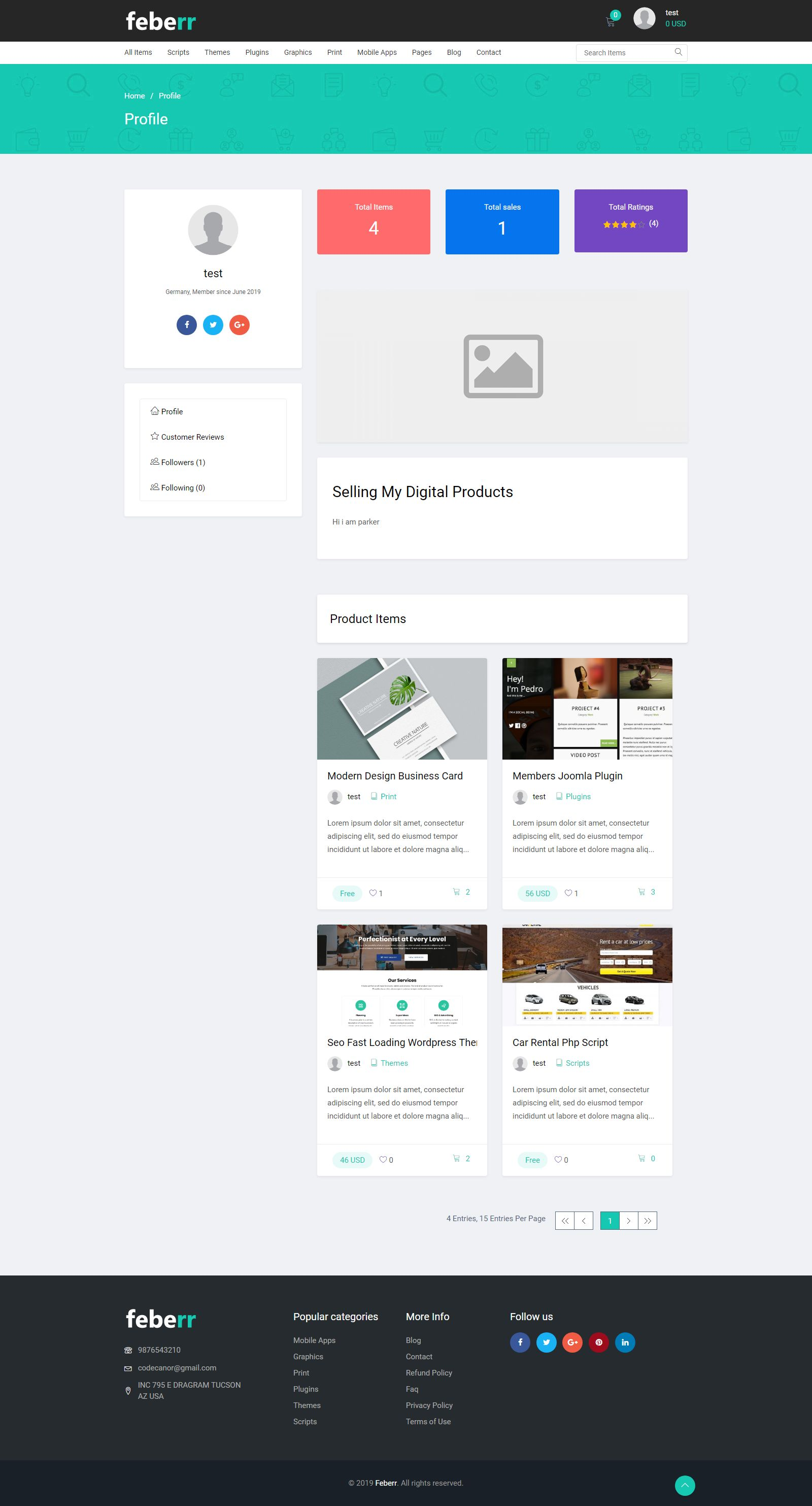 Feberr - Multivendor Digital Products Marketplace  Screenshot 5