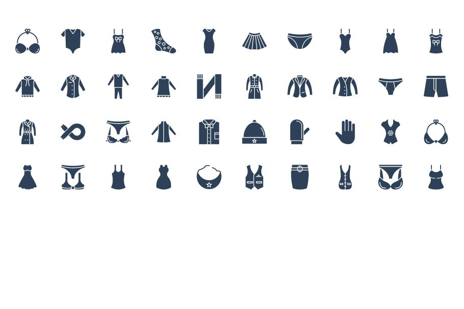 1600 Fashion Isolated Vector Icons Pack Screenshot 2