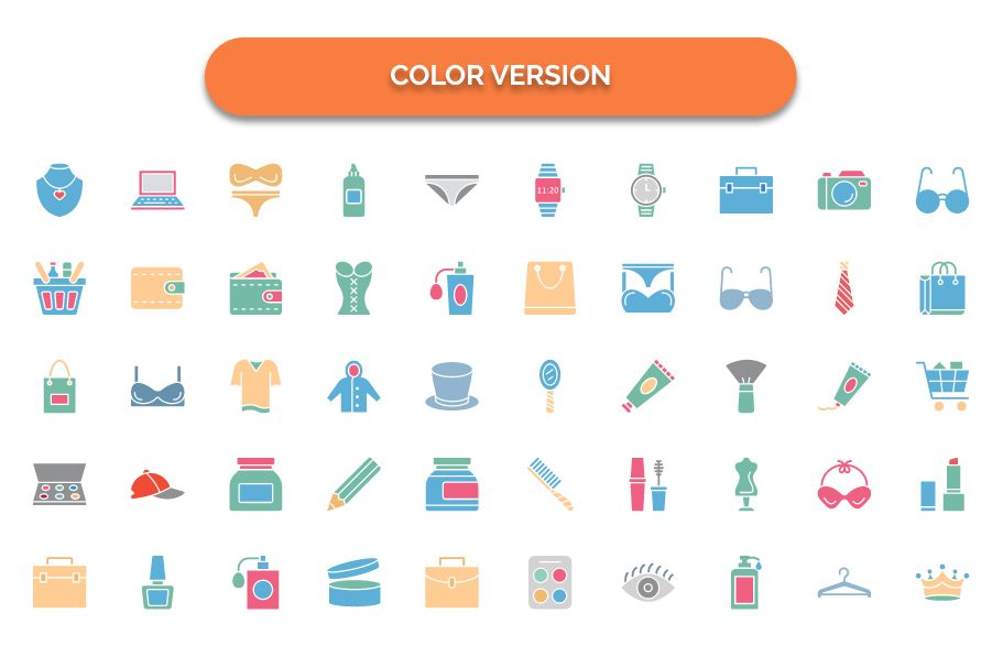 1600 Fashion Isolated Vector Icons Pack Screenshot 3