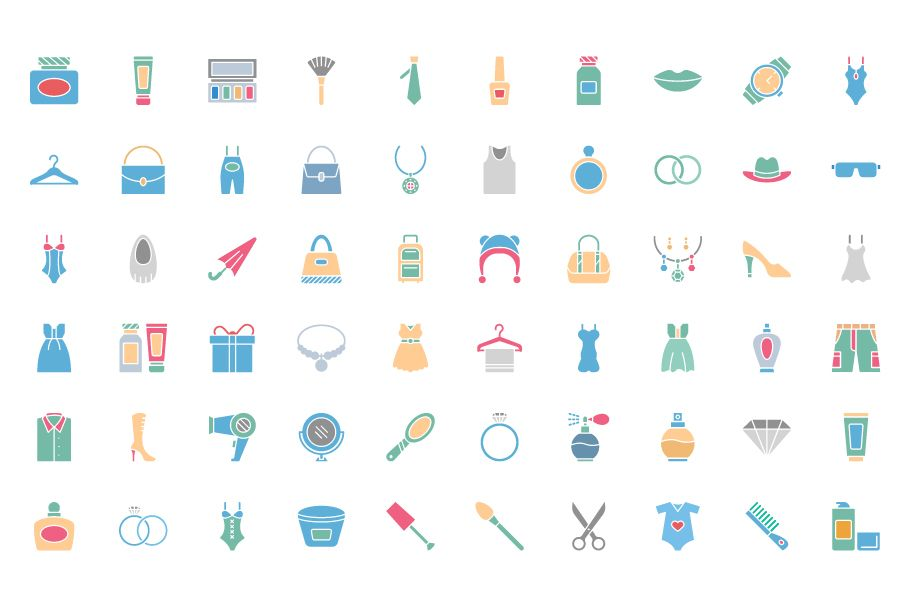 1600 Fashion Isolated Vector Icons Pack Screenshot 4