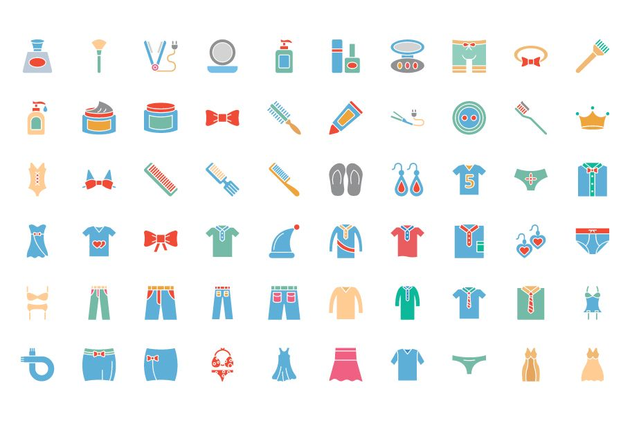 1600 Fashion Isolated Vector Icons Pack Screenshot 5