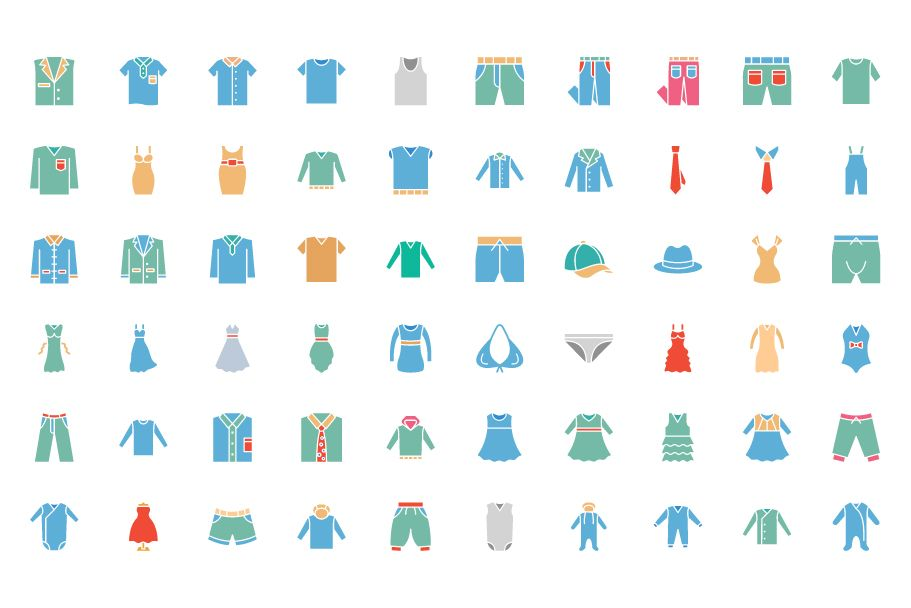 1600 Fashion Isolated Vector Icons Pack Screenshot 6