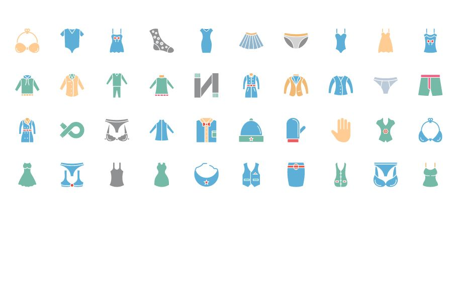 1600 Fashion Isolated Vector Icons Pack Screenshot 7