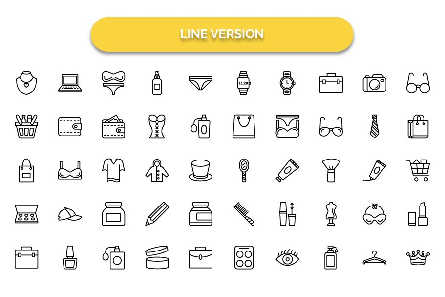 1600 Fashion Isolated Vector Icons Pack Screenshot 14
