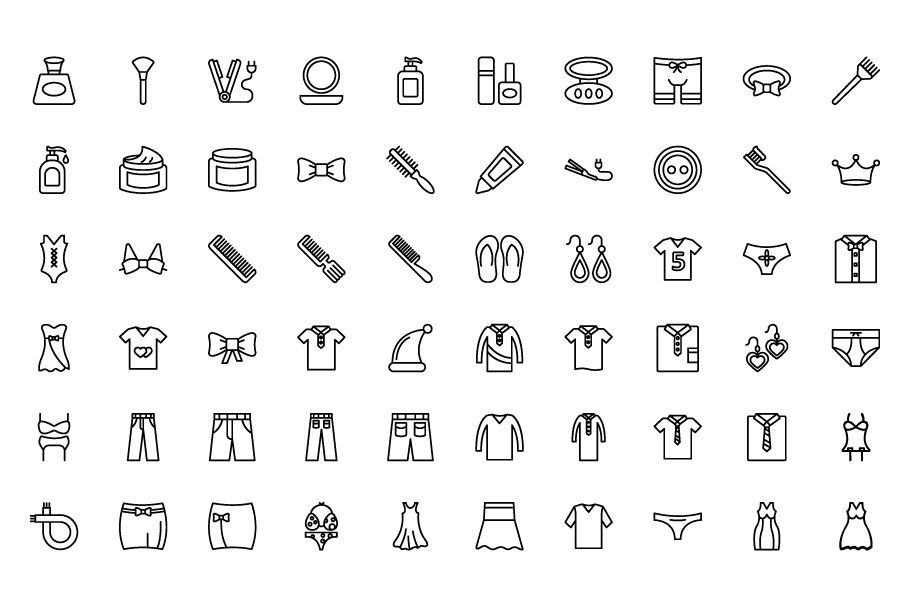 1600 Fashion Isolated Vector Icons Pack Screenshot 16