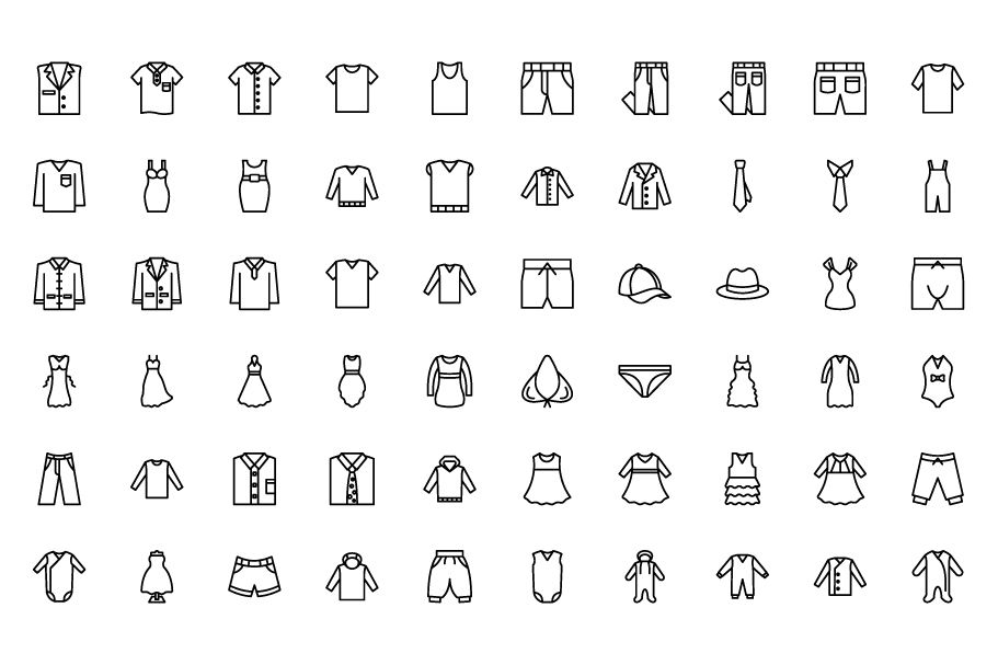 1600 Fashion Isolated Vector Icons Pack Screenshot 17