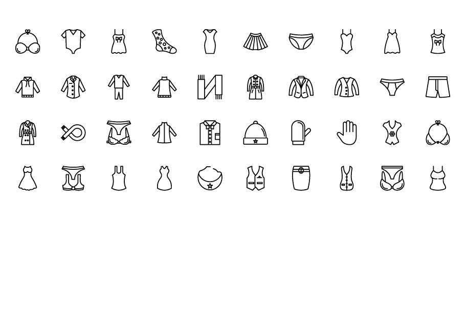1600 Fashion Isolated Vector Icons Pack Screenshot 18