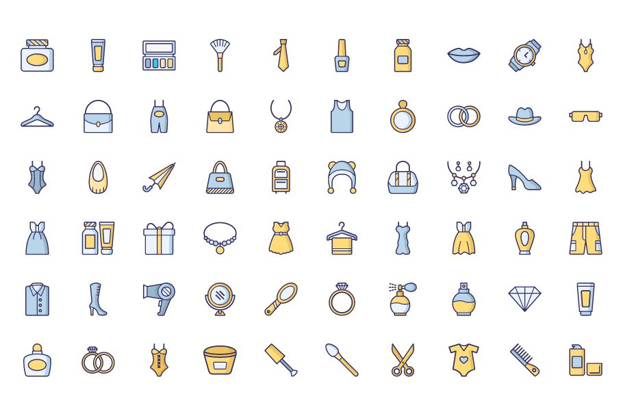 1600 Fashion Isolated Vector Icons Pack Screenshot 20