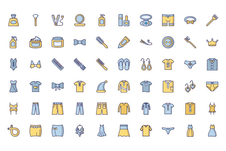 1600 Fashion Isolated Vector Icons Pack Screenshot 21