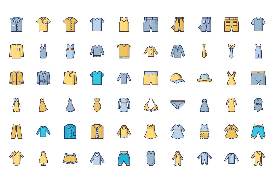 1600 Fashion Isolated Vector Icons Pack Screenshot 22