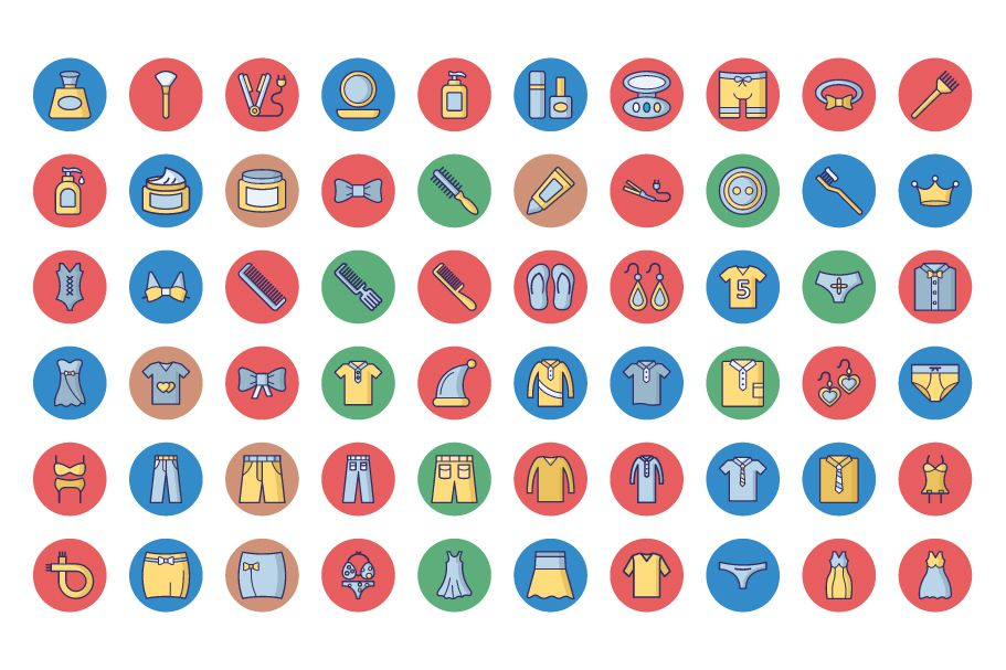 1600 Fashion Isolated Vector Icons Pack Screenshot 23