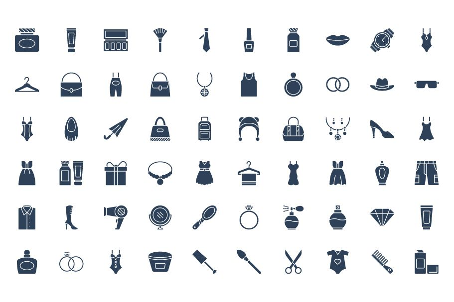 1600 Fashion Isolated Vector Icons Pack Screenshot 28