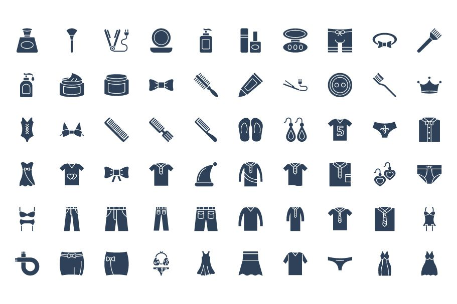 1600 Fashion Isolated Vector Icons Pack Screenshot 29