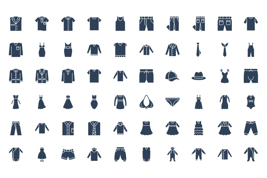 1600 Fashion Isolated Vector Icons Pack Screenshot 30