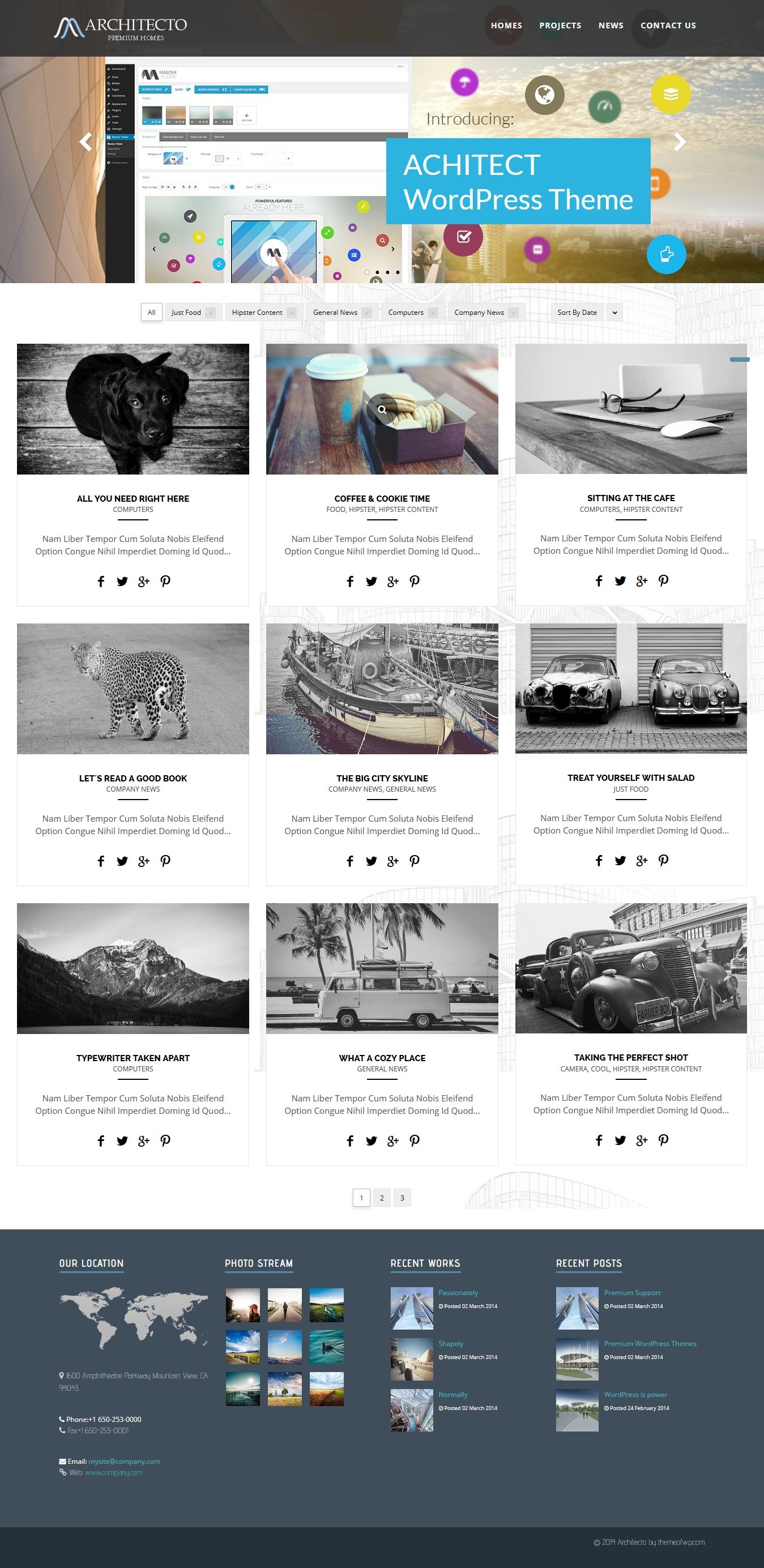 Architect wordpress architecture theme wordpress for Architecture wordpress