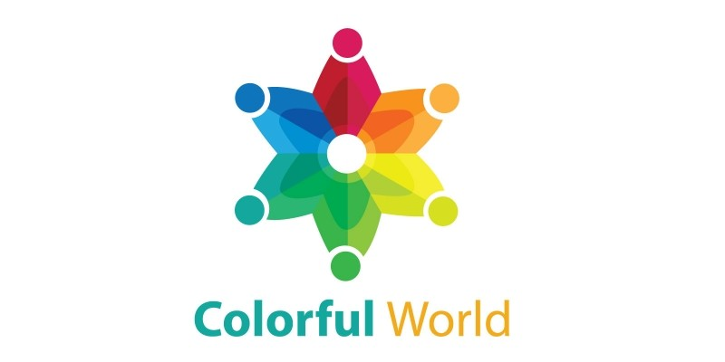 Colorful World Logo Template by Mohamad17