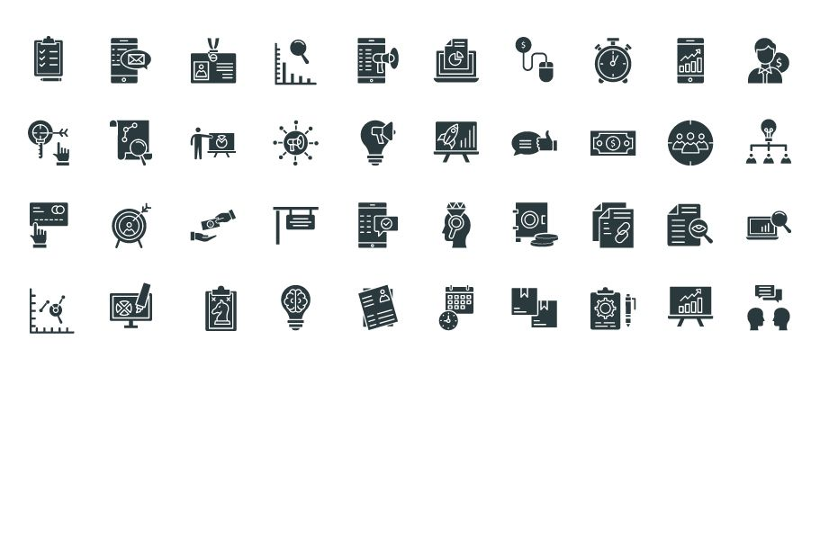 450 Financial Management Vector Icons Pack Screenshot 5